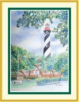 Watercolor prints lighthouse