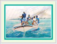 Watercolor prints sailboat